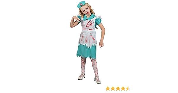 Disfraz Los niños : Enfermera de Halloween del zombi. Talla XL ...