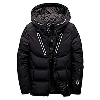 MAZF Winter Jacket White Duck Down Parka Casual Goose