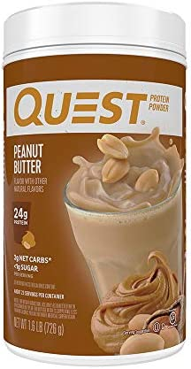 Quest Nutrition Peanut Butter Protein Powder, High Protein, Low Carb, Gluten Free, Soy Free, 25.6 Ounce Pack of 1