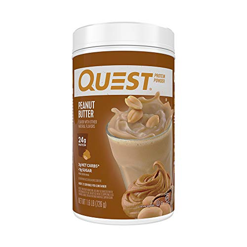 Cheap Quest Nutrition Peanut Butter Protein Powder, High Protein, Low Carb, Gluten Free, Soy Free, 25.6 Ounce (Pack of 1) quest flavors