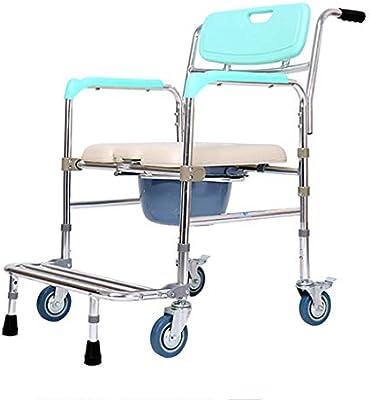 كرسي بذراع قابل للطي مع عجلات كرسي استحمام دوار بارتفاع قابل للتعديل للمعاقين وكبار السن والمعاقين Amazon Ae