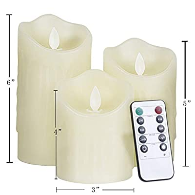 Changzhong Flameless Candles Dripped Wax Dancing LED Flames Remote Control Party Supply
