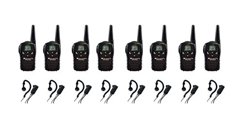 8-PACK Midland LXT118 FRS/GMRS 2 Way Radios with AVPH4 Wrap Around Ear Headsets, Brand New Sealed