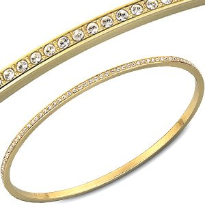548379fda107 Swarovski Clear Crystal READY Bangle Bracelet Gold Plated Medium  1142052   Amazon.ca  Jewelry