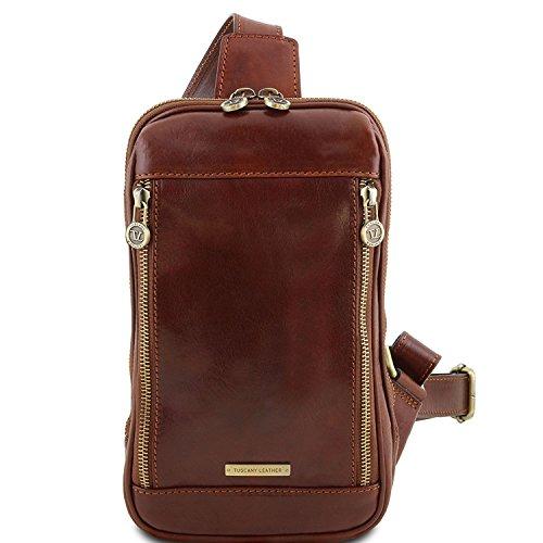Marrón TL141536 Tuscany Leather oscuro Marrón Martin en piel Riñonera con bandolera Bq8O4w0rB