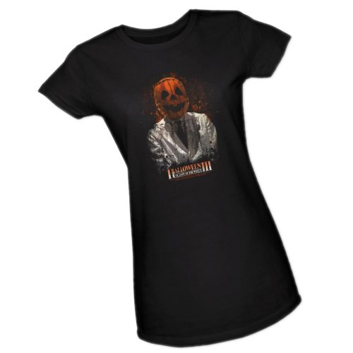 Scientist -- Halloween III Crop Sleeve Fitted Juniors T-Shirt, X-Large -
