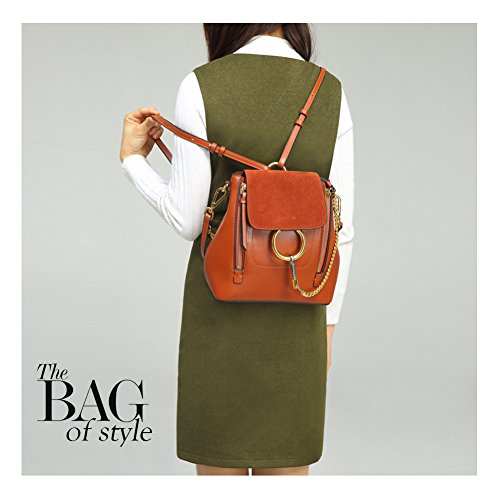 Blocking Genuine Crossbody Leather Bags Chain Shoulder Women Color Fashion for Grey Bags Hobo Bags Normia Rita 5qH77