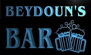 w025306-b BEYDOUN Name Home Bar Pub Beer Mugs Cheers Neon Light Sign