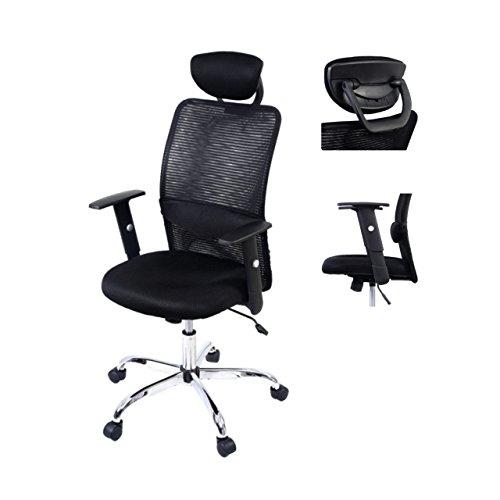 Ergonomic Mesh High Back Office Chair Soft Sponge Upholstery 360 Degree Swivel Home Office Gaming Desk Task - With Headrest - Town Doncaster Shopping