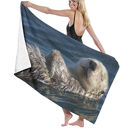 AWRSDCAS Water Otter While Sleeping Home Life Bath Towel Microfiber Polyester 31.5