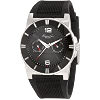 Kenneth Cole New York Men's Quartz Stainless Steel and Polyurethane Casual Watch, Color:Black (Model: KC1405)