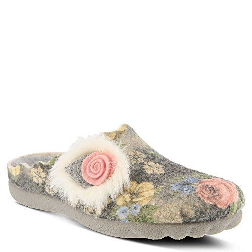 Spring Step Fluffball Women's Slipper Grey