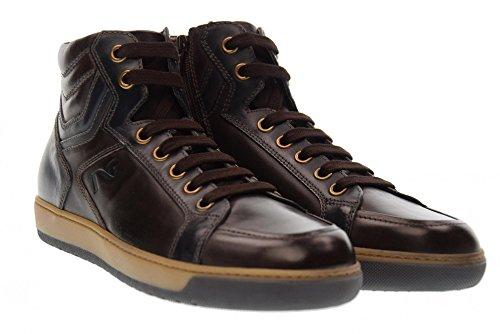 NERO GIARDINI Scarpe Uomo Sneakers Alte A705351U/301 Marrone Blu Marrone Blu