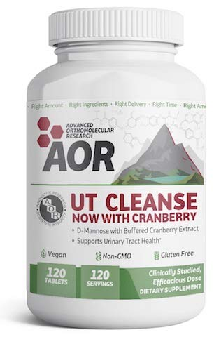 UTI Cleanse D-Mannose 1000mg Cranberry 100mg 120 Tablets Brand A.O.R Advanced Orthomolecular Research