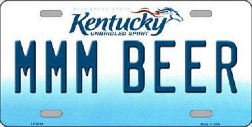 Mmm Beer - MMM Beer Kentucky Novelty Metal License Plate