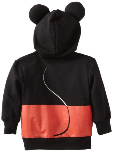 Disney Little Boys' Toddler Mickey Mouse Hoodie, Black, 3T by Disney (Image #2)