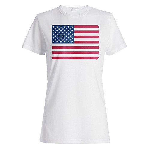Neue Usa Amerika Flaggenkunst Damen T-shirt m119f