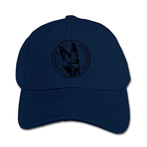 Hanfjj Kefdk Funny Dutch Shepherd Trucker Cap Adjustable Baseball Hats Boy Girl Navy