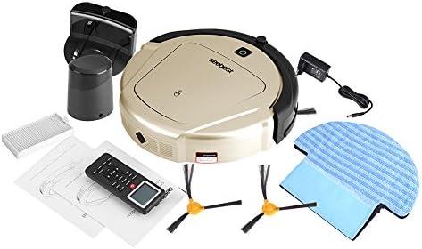 Robot Aspirador, Automático D750 Tiempo Configurable Robot Inteligente Aspirador Limpiador de Piso Barrido Succión Máquina de Barrido Robot(Golden EU): Amazon.es: Hogar