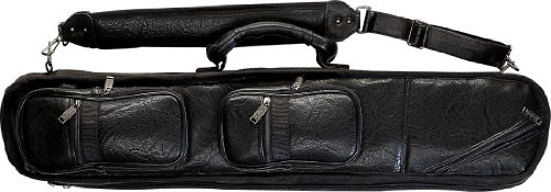 Lucasi LC-3 4 Butt/ 8 Shaft Black Leatherette Pool Cue Case