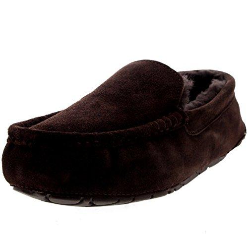 Mocassinos Pelliccia Montone Camoscio Uomo Marrone Pantofole Casa Australiano xXazzwd
