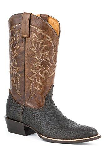 Roper Menns Python Print Cowboy Boot Rund Tå - 09-020-7030-0916 Br Brun