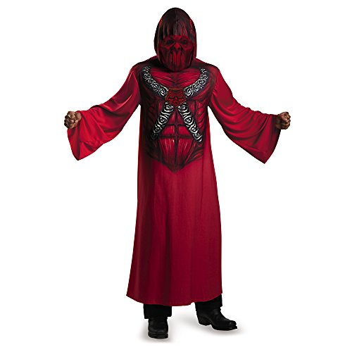 Disguise 74298G Devil Hooded Print Robe - Child Costume, Large (10-12) (Devil Robe Child Costume)