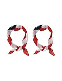 LIOOBO Cloth Scarf Kerchief American Flag Bandana Headband for Men USA Flag Bandana Pack of 2