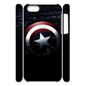 LSQDIY(R) Captain America iPhone 5C 3D Case, Custom iPhone 5C 3D Phone Case Captain America
