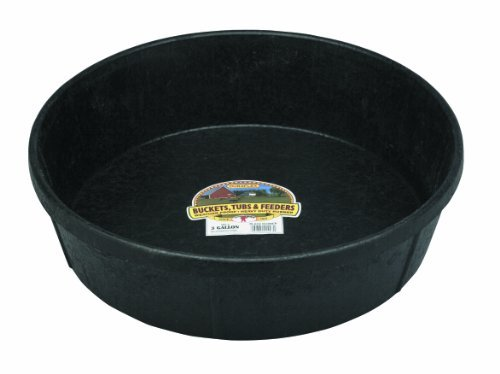 Pan Gallon Feed (Little Giant3 Gallon Rubber Feed Pans HP-3 Garden, Lawn, Supply, Maintenance)