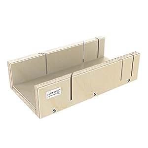 AUPROTEC cortar carga 250x 135x 68mm Multiplex Abedul Madera Precisión ingletadora carga para ambos lados 45° y 90° ángulo