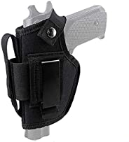 Gexgune Tactical Gun Holster Concealed Carry Holster IWB OWB Holster with Magazine Slot and Interchangeable Me