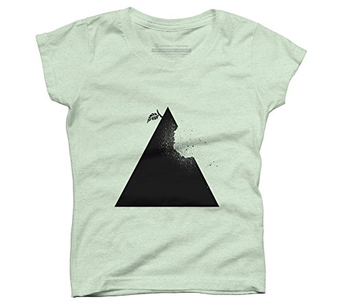 Price comparison product image Apple pyramid Girl's Large Mint Youth Graphic T Shirt - Design By Humans