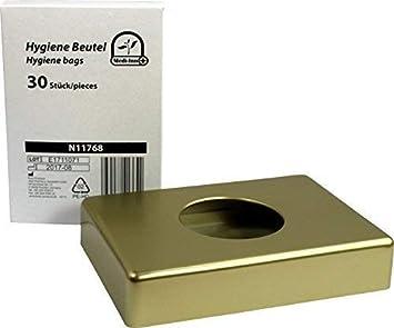 1x Dispensador VARIOS COLORES + 30 Stück Bolsa Higienica para toallas sanitarias de medi -inn - oro+30Hygienebeutel: Amazon.es: Salud y cuidado personal