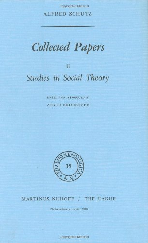 Download Collected Papers, Vol. 2: Studies in Social Theory (Phaenomenologica) Pdf