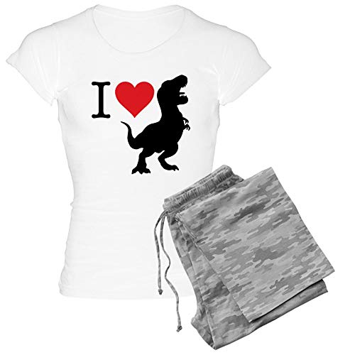 CafePress I Love T Rex Womens Novelty Cotton Pajama Set, Comfortable PJ Sleepwear]()