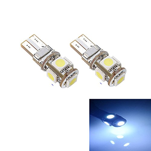 Dome Style Base - JP-DPP9 10-Pack White Replacement Stock #: T10 5-SMD W5W 194 16 Bulb 5050 5 SMD LED Light,12V Car Interior Lighting for Map Dome Lamp Courtesy Trunk License Plate Dashboard Parking Lights (a)