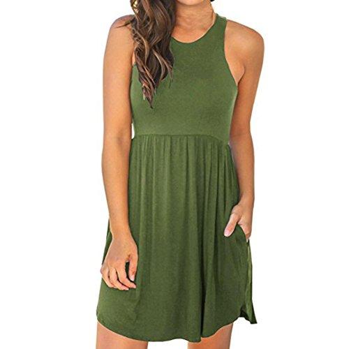 Silk Racerback Dress - Summer Dress for Women's Sleeveless Casual Racerback Short Tank Dress