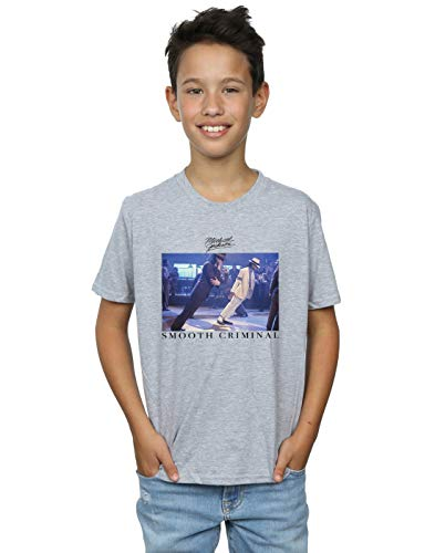 Michael Jackson Boys Smooth Criminal Lean T-Shirt Sport Grey 7-8 Years