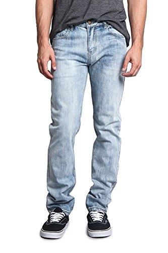 Victorious Men's Skinny Fit Stretch Raw Denim Jeans DL1004 - Blue Sky - 36/30 - DNM