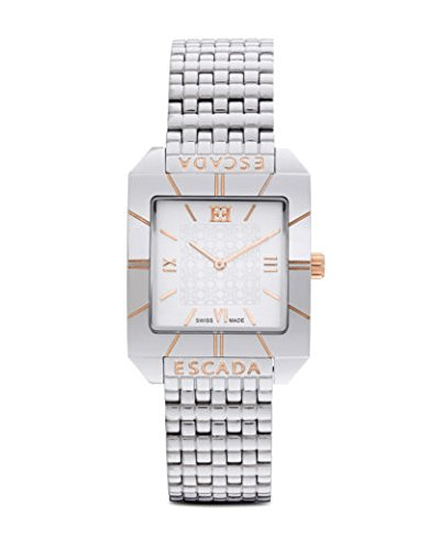 Escada womens Megan Silver and gold watch