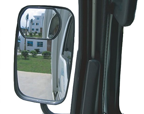 Wide Angle Blind Spot Mirror Head Truck Lorry Tractor Caravan Van Bus Towing etc
