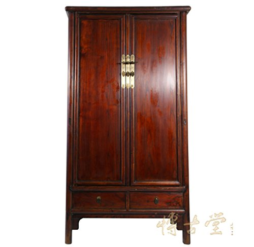 Chinese Antique Round Corner Noodle Armoire 27T05 ()