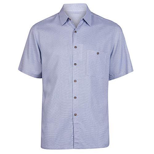 Campia Men's Rayon Print Shirt Big and Tall (Geometric Dot Blue, 3X)