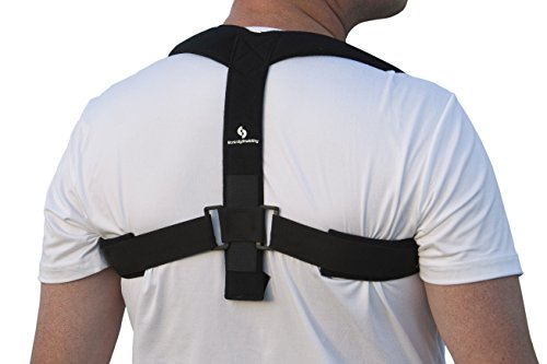 StrictlyStability Upper Back Posture Corrector Brace and Clavicle Support for Fractures, Sprains, and Shoulders (Large)