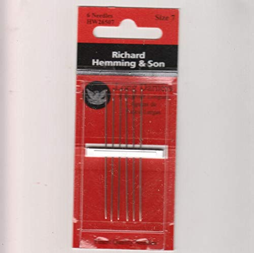 Richard Hemming Needles - Long Darners Size 7 - Made in England ()