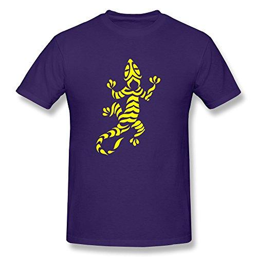 Men's Lizard Tribal Tattoo 7 T-shirts,Purple Tee By HGiorgis S Purple
