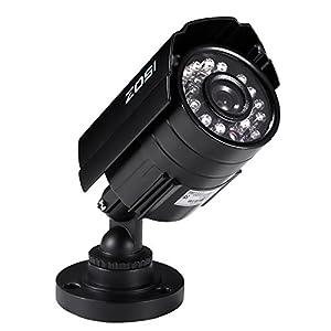 ZOSI HD 800TVL 24PCS IR-LEDs 3.6mm lens with IR Cut CCTV Camera Home Security Day/Night Waterproof Camera- 65ft(20m) IR Distance, Aluminum Metal Housing