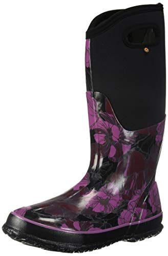 Wellies Floral Black Vintage Bogs Multi Tall Classic Up7IIw