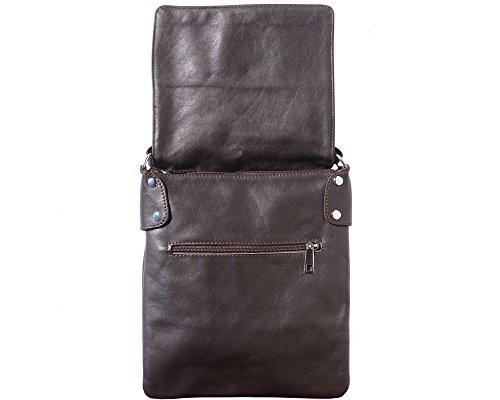 Shoulder Brown Italian Crossbody Leather Ashley LaGaksta Soft Dark II Bag q6EZwXOz